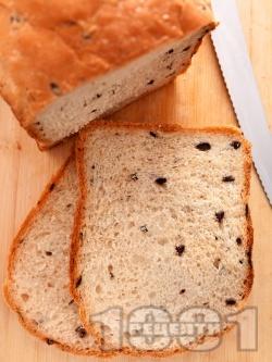 Домашен хляб с маслини за хлебопекарна (със суха мая) - снимка на рецептата